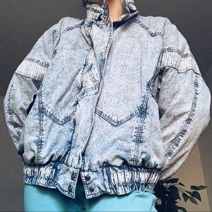 Vintage Acid Wash Bomber Jacket